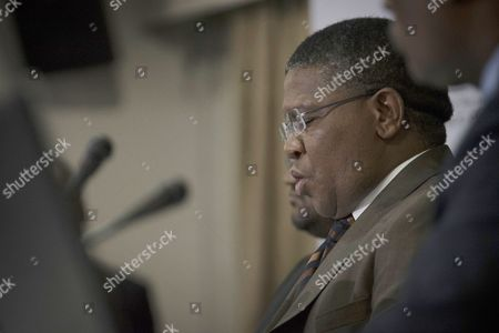 South Africa's Sports Minister Fikile Mbalula Addressing the Media During a Press Conference at Safa House Johannesburg South Africa 03 June 2015 South African Sports Minister Fikile Mbalula Categorically Denied That the 10-million-dollar Payment Made by His Country to the Caribbean Football Union (cfu) was a Bribe to Secure the Hosting of the 2010 Fifa World Cup the Us Authorities Are Investigating the Transfer of 10 Million Dollars Paid by Fifa on Behalf of 2010 World Cup Hosts South Africa Which Had Been Unable to Pay the Sum Directly From Government Funds South Africa Johannesburg