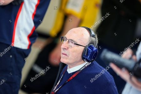 Williams Formula One Team Principal and Founder Sir Frank Williams is Seen in Pit During the First Practice Session at Circuit De Catalunya in Montmelo Near Barcelona Spain 10 May 2013 the 2013 Formula One Grand Prix of Spain Will Take Place on Sunday 12 May Spain Montmelo