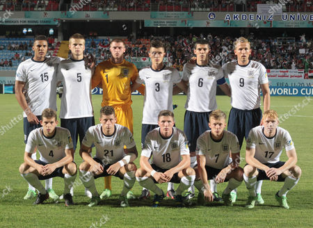 England Team For the Fifa Under 20 World Cup 2013 Soccer Championship at the Akdeniz University Stadium in Antalya Turkey 23 June 2013 Standing From Left: Jamaal Lascelles; Eric Dier; Samuel Johnstone; Daniel Potts; Conor Coady; Harry Kane Bottom From Left: Jonathon Flanagan; Ross Barkley; John Lundstram; James Ward-prowse; Luke Williams Turkey Antalya