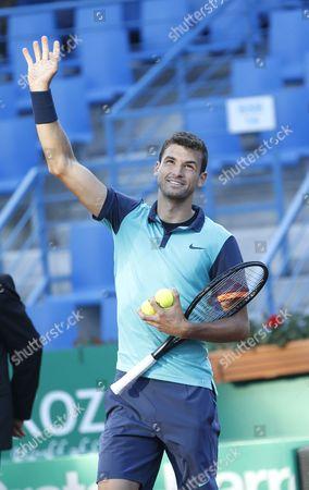 Grigor Dimitrov of Bulgaria Celebrates After Winning Against Andrey Golubev of Kazakhistan During Their First Round Match of the Teb Bnp Paribas Istanbul Open Tennis Tournament in Istanbul Turkey 30 April 2015 Turkey Istanbul