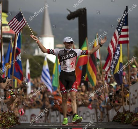 Ben Hoffman of the Usa Places Second in the 2014 Ironman World Championship in Kailua Kona Hawaii Usa 11 October 2012 the Ironman Competition Challenges Competitors with a 3 9 Km Swim Followed by a 180 Km Bike Ride and is Finished with a Marathon (42 195 Km) Run United States Kailua-kona