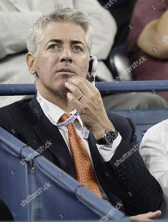 Pershing Square Capital Management Ceo and Founder Bill Ackman Watches As Victoria Azarenka of Belarus Plays Daniela Hantuchova of Slovakia During Their Quarterfinals Round Match on the Tenth Day of the 2013 Us Open Tennis Championship at the Usta National Tennis Center in Flushing Meadows New York Usa 04 September 2013 the Us Open Runs Through Monday 09 September a 15-day Schedule For the First Time United States Flushing Meadows