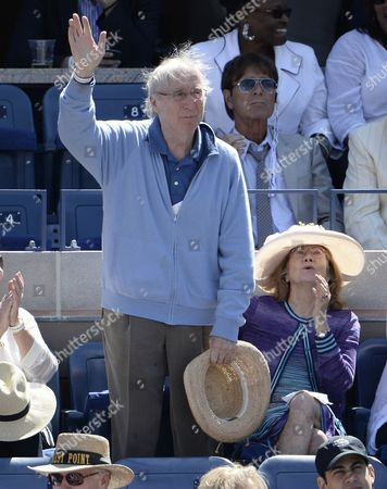 Us Actor Gene Wilder Waves to the Crowd As Novak Djokovic of Serbia Plays Stanislas Wawrinka of Switzerland During Their Semifinals Round Match on the Thirteenth Day of the 2013 Us Open Tennis Championship at the Usta National Tennis Center in Flushing Meadows New York Usa 07 September 2013 the Us Open Runs Through Monday 09 September a 15-day Schedule For the First Time United States Flushing Meadows