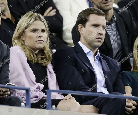 Daughter of Former Us President George W Bush Jenna Bush Hager and Her Husband Henry Hager (r) Watch As Novak Djokovic of Serbia Plays Mikhail Youzhny of Russia During Their Quarterfinals Round Match on the Eleventh Day of the 2013 Us Open Tennis Championship at the Usta National Tennis Center in Flushing Meadows New York Usa 05 September 2013 the Us Open Runs Through Monday 09 September a 15-day Schedule For the First Time Epa/jason Decrow United States Flushing Meadows