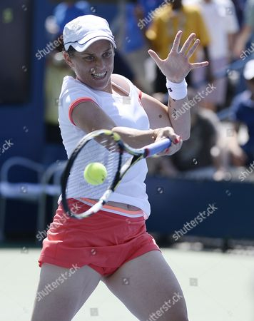 Romina Oprandi of Switzerland Hits a Return to Daniela Hantuchova of Slovankia During the 2014 Us Open Tennis Championship at the Usta National Tennis Center in Flushing Meadows New York Usa 25 August 2014 the Us Open Runs Through Monday 08 September a 15-day Schedule United States Flushing Meadows
