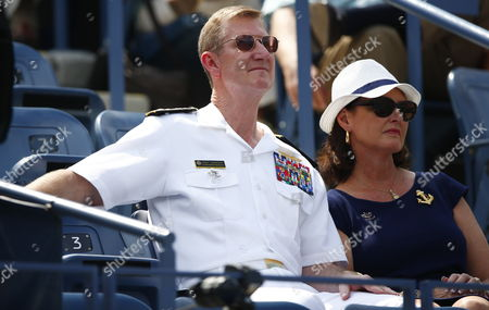 Vice Admiral Walter E 'Ted' Carter Superintendant of the Us Naval Academy and His Wife Linda (r) Watch As Flavia Pennetta of Italy Plays Casey Dellacqua of Australia During the Eighth Day of the 2014 Us Open Tennis Championship at the Usta National Tennis Center in Flushing Meadows New York Usa 01 September 2014 the Us Open Runs Through 08 September a 15-day Schedule Epa/andrew Gombert United States Flushing Meadows
