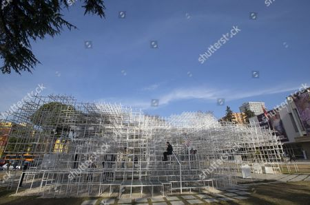 Editorial image of The Cloud sculpture by Japanese artist Sou Fujimoto in Tirana, Albania - 23 Jan 2017