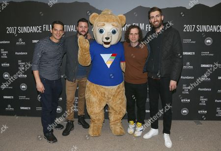 Billy Rosenberg, Kevin Costello, Jian Giannini (bear), Kyle Mooney, Dave McCary