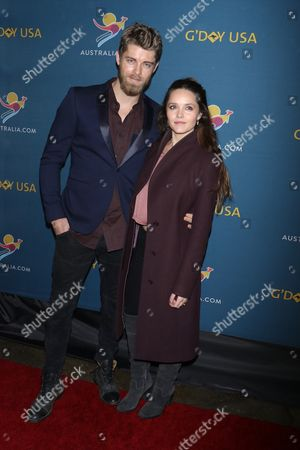 Luke Mitchell and Rebecca Breeds