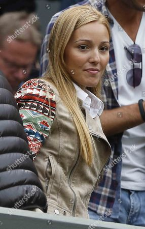 Jelena Ristic Arrives on Centre Court to Watch Her Boyfriend Novak Djokovic of Serbia Take on Bobby Reynolds of Usa in Their Second Round Match For the Wimbledon Championships at the All England Lawn Tennis Club in London Britain 27 June 2013 United Kingdom Wimbledon