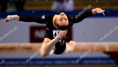 Hannah Whelan of Britain Performs on the Floor During the Team Competition at the Women's Artistic Gymnastics European Championships in Sofia Bulgaria 17 May 2014 Team Britain Won the Silver Medal Bulgaria Sofia