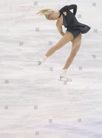 Kiira Korpi of Finland Performs During the Ladies Short Program of the Isu World Figure Skating Championships at Shanghai Oriental Sports Center in Shanghai China 26 March 2015 the 2015 World Figure Skating Championships in Shanghai Will Start on 25 March Until 29 March 2015 China Shanghai