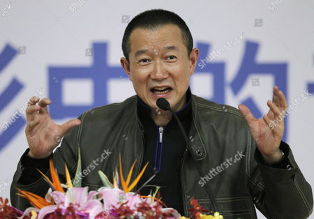 Chinese-born Composer Tan Dun Speaks During a Film Music Forum at the Beijing International Film Festival in Beijing China 27 April 2012 the Beijing International Film Festival Will Run From 23 to 28 April China Beijing