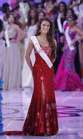 Miss England Charlotte Holmes is Seen at the Finals of the Miss World 2012 Pageant in Dongsheng Stadium in Ordos Inner Mongolia China 18 August 2012 Miss China is Crowned Miss World at the 62nd Edition of the Miss World Pageant Held in Ordos China Beijing