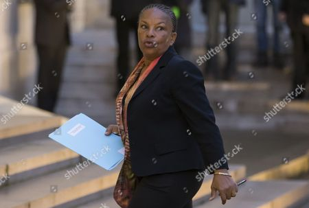 French Justice Minister Christiane Taubira Arrives For a Crisis Cabinet Meeting at the Elysee Palace in Paris France 08 January 2015 Government Ministers Met Early in the Morning the Day After an Attack when Gunmen Opened Fire at the 'Charly Hebdo' Satirical Newspaper Headquarters in Paris Killing 12 People France Paris