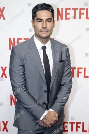 Us Actor Donald Joseph 'D J ' Cotrona Poses During a Photocall For the Netflix Launching Event at the Faust in Paris France 15 September 2014 the Video on Demand (vod) Platform is Launched in France on 15 September and Has Signed a Broadcast Agreement with the Internet Service Provider Bouygues Telecom and is Now Available in the Country on the Web France Paris