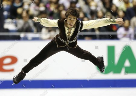 Nobunari Oda of Japan Perfoms His Free Skating During the Men's Singles of the Nhk Trophy Isu Figure Skating Grand Prix in Tokyo Japan 09 November 2013 Oda Took the Silver Medal Japan Tokyo