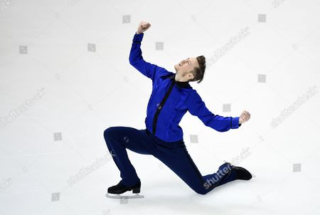 Jeremy Abbott of the Us Performs During the Men's Short Program at the Isu Grand Prix of Figure Skating Nhk Trophy in Osaka Japan 28 November 2014 Japan Osaka