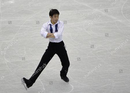 Nobunari Oda of Japan Performs During the Men's Short Program of the Isu Grand Prix of Figure Skating Final 2013 in Fukuoka Southwestern Japan 05 December 2013 Japan Fukuoka