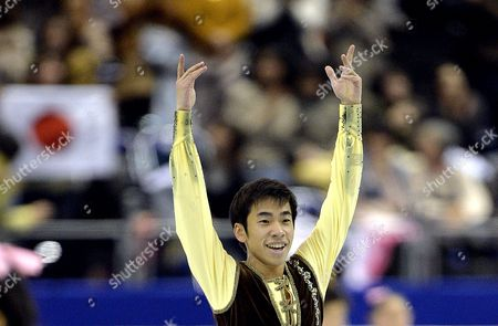 Nobunari Oda of Japan Acknowledges to the Spectators After Performing at the Men's Free Skating of the Isu Grand Prix of Figure Skating Final 2013 in Fukuoka Southwestern Japan 06 December 2013 Oda Ranked Third Japan Fukuoka