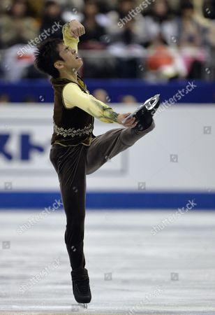 Nobunari Oda of Japan Performs During the Men's Free Skating of the Isu Grand Prix of Figure Skating Final 2013 in Fukuoka Southwestern Japan 06 December 2013 Oda Ranked Third Japan Fukuoka
