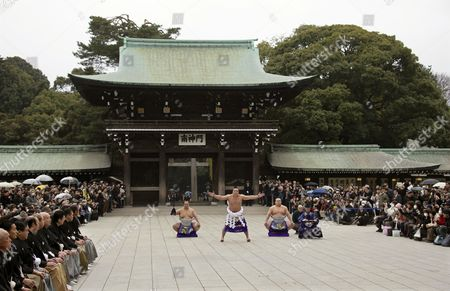 Editorial picture of Japan Sumo Wrestling - Jan 2014
