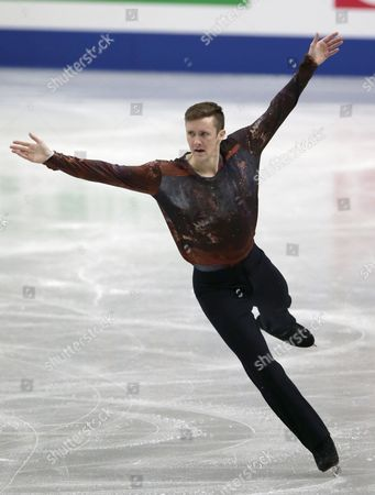 Jeremy Abbott of the United States Performs During the Men's Singles Free Skating of the Isu World Figure Skating Championships in Saitama North of Tokyo Japan 28 March 2014 Abbott Placed Fifth Japan Saitama