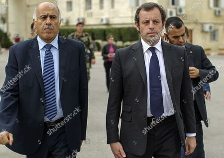 Editorial image of Mideast Palestinians Barcelona President - Feb 2013
