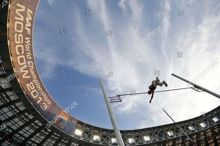 Silke Spiegelburg of Germany Clears the Bar During the Women's Pole Vault Final at the 14th Iaaf World Championships at Luzhniki Stadium in Moscow Russia 13 August 2013 Russian Federation Moscow