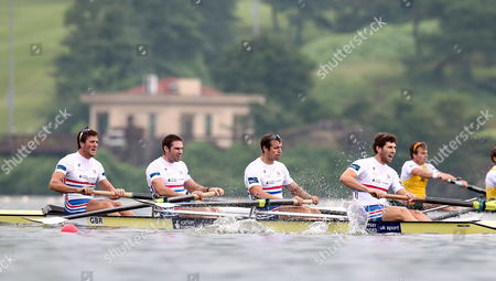 Britain's Alan Sinclair Nathaniel Reilly-o'donnell Scott Durant and Matthew Tarrant Compete in the Men's Four Semifinal A/b at the 2013 World Rowing Championships in Chungju South Korea 29 August 2013 the Competition Will Last Until 01 September Korea, Republic of Chungju