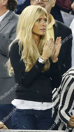 Former Professional Wrestler Torrie Wilson Girl Friend of New York Yankees Third Baseman Alex Rodriguez is Seen in the Crowd During the Los Angeles Angels of Anaheim Vs New York Yankees Mlb Game at Yankee Stadium in the Bronx New York Usa 12 August 2013 United States Bronx