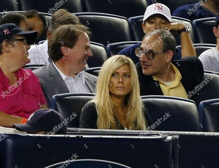Former Professional Woman Wrestler Torrie Wilson Girl Friend of New York Yankees Third Baseman Alex Rodriguez is Seen in the Crowd During the Los Angeles Angels of Anaheim Vs New York Yankees Mlb Game at Yankee Stadium in the Bronx New York Usa 12 August 2013 United States Bronx