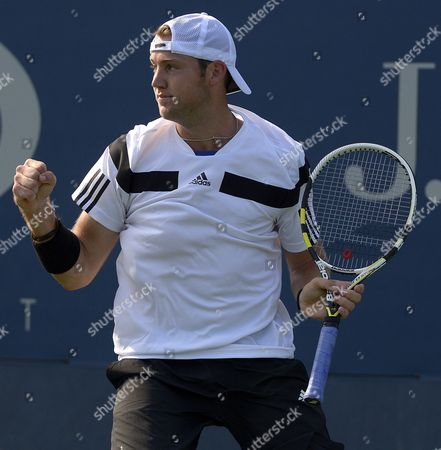 Jack Sock of the Us Reacts As He Plays Philipp Petzschner of Germany During Their Match on the Second Day of the 2013 Us Open Tennis Championship at the Usta National Tennis Center in Flushing Meadows New York Usa 27 August 2013 the Us Open Runs Through Monday 09 September a 15-day Schedule For the First Time United States Flushing Meadows
