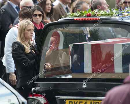 A Mourner Shows Her Feelings to a Departed Loved One After the Repatriations of Capt Thomas Clarke Warrant Officer Spencer Faulkner and Cpl James Walters All From the Army Air Corps; and Raf Intelligence Officer Flt Lt Rakesh Chauhan and L/cpl Oliver Thomas Both of the Intelligence Corps who Were Killed in a Helicopter Crash 26 April 2014 Afghanistan Wootton Bassett Britain the Public Send-off at Carterton Followed the Repatriations at Raf Brize Norton Oxfordshire Most of the Isaf Troops Stationed in the Volatile Southern Areas Are Americans Britons and Canadians United Kingdom Wootton Bassett