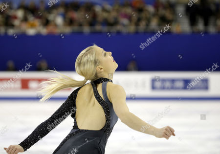 Kiira Korpi of Finland Performs During the Ladies Short Program of the 2015 Isu World Figure Skating Championships at Shanghai Oriental Sports Center in Shanghai China 26 March 2015 China Shanghai