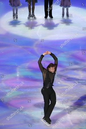Evgeni Plushenko of Russia Performs During the Opening Ceremony of the 2015 Isu World Figure Skating Championships at Shanghai Oriental Sports Center in Shanghai China 25 March 2015 China Shanghai