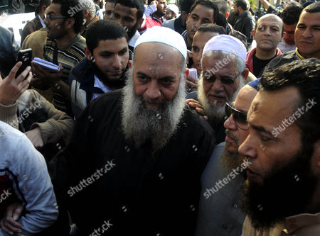 Stock Picture of A Photograph Made Available on 17 August 2013 Shows Mohammed Al-zawahiri (c) Brother of Ayman Al-zawahiri the Chief of Al-qaeda During a Protest Outside the French Embassy in Cairo Egypt 18 January 2013 Egyptian Police Have Arrested the Brother of Ayman Al-zawahiri Security Sources Said on 17 August Mohammed Al-zawahiri a Jihadist who was Released From Prison in 2011 was Arrested at a Security Checkpoint in Giza South of Cairo the Sources Said Egypt Cairo