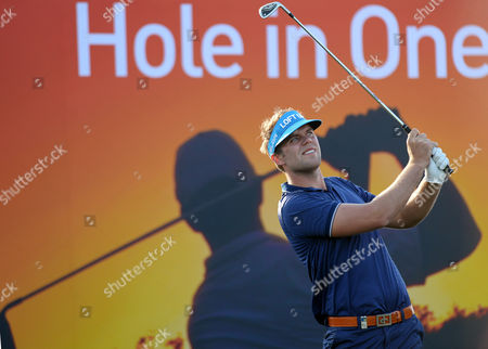 Johan Carlsson of Sweden Watches His Shot During the Third Round of the Qatar Masters Golf Tournament at the Doha Golf Club in Doha Qatar 24 January 2014 Qatar Doha