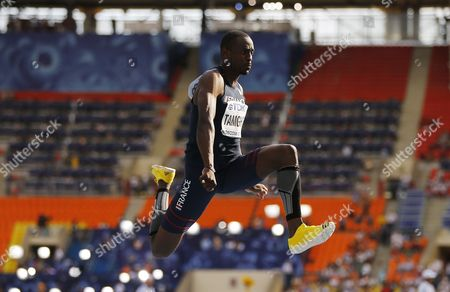 Teddy Tamgho of France Competes in the Men's Triple Jump Final at the 14th Iaaf World Championships at Luzhniki Stadium in Moscow Russia 18 August 2013 Russian Federation Moscow