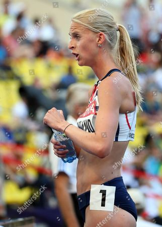 Britain's Hannah England Reacts During the Women's 1 500m Heats at the 14th Iaaf World Championships at Luzhniki Stadium in Moscow Russia 11 August 2013 Russian Federation Moscow