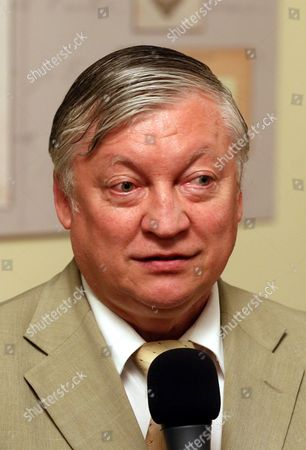 Seven-time World Chess Champion Anatoly Karpov Speaks During Opening Ceremony of the Exhibition Dedicated to World War i in the State Duma in Moscow Russia 10 June 2014 the Exhibition Commemorates the 100th Anniversary of the Beginning of Wwi Or the Great War Which According to Official Statistics Cost More Than 37 Million Military and Civilian Casualties Between 1914 and 1918 Russian Federation Moscow