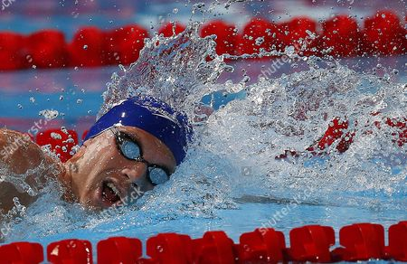 Daniel Fogg of Britain Competes in the Men's 1 500m Freestyle Heats During the 15th Fina Swimming World Championships at Palau Sant Jordi Arena in Barcelona Spain 03 August 2013 Spain Barcelona