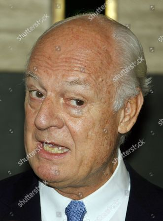 Staffan De Mistura the New Un Envoy to Syria Speaks During a Press Conference in Damascus Syria 11 September 2014 Staffan De Mistura Arrived in Damascus As the New Un Envoy to Syria Replacing Algerian Diplomat Lakhdar Brahimi Syrian Arab Republic Damascus