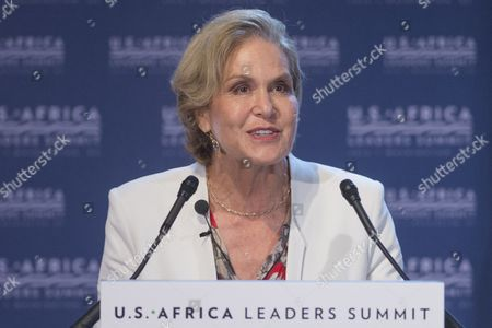 President of the Rockefeller Foundation Judith Rodin Speaks During the Forum 'Resilience and Food Security in a Changing Climate' at the Us Africa Leaders Summit in Washington Dc Usa 04 August 2014 the Us Africa Leaders Summit Brings Almost Fifty African Heads of State and Government to Meet on a Variety of Issues Including Food Security Civil Rights Women's Issues and Economic Development United States Washington