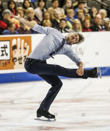 Jeremy Abbott of the Us Skates During the Mens Short Program of the Isu Gp 2014 Hilton Hhonors Skate America at the Sears Center in Hoffman Estates Illinois Usa 24 October 2014 United States Hoffman Estates