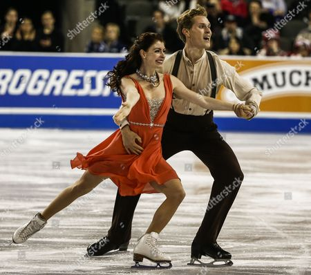 Nicole Orford of Canada and Thomas Williams of Canada Skate During the Ice Dance Free Dance Program of the Isu Gp 2014 Hilton Hhonors Skate America at the Sears Center in Hoffman Estates Illinois Usa 25 October 2014 United States Hoffman Estates