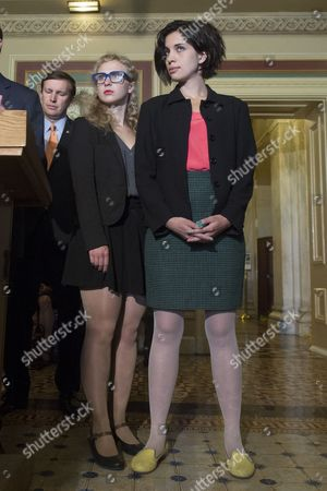 Members of Pussy Riot Nadya Tolokonnikova (r) and Maria Alyokhina (l) Attend a News Conference with Us Lawmakers on Capitol Hill in Washington Dc Usa 06 May 2014 Members of the Russian Protest Group Pussy Riot Met with Us Lawmakers to Discuss the State of Human Rights in Russia United States Washington