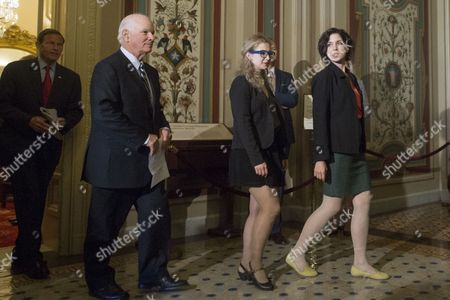 Members of Pussy Riot Nadya Tolokonnikova (r) and Maria Alyokhina (2-r) Walk out of a Meeting with Us Lawmakers Including Democratic Senator From Maryland Ben Cardin (2-l) and Democratic Senator From Connecticut Richard Blumenthal (l) on Capitol Hill in Washington Dc Usa 06 May 2014 Members of the Russian Protest Group Pussy Riot Met with Us Lawmakers to Discuss the State of Human Rights in Russia United States Washington
