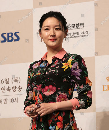 """South Korean actress Lee Young-ae attends a premiere of her television drama """"Saimdang, Memoir of Colors,"""" in Seoul, South Korea"""