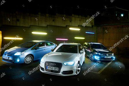 (L Toyota Prius Plug-in Hybrid Audi A3 E-tron And A Volkswagen Golf Gte Hybrid Car